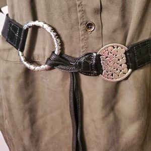 Brighton love Heart belt pull leather Black Large